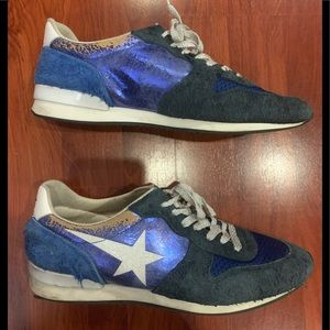 HAUS GOLDEN GOOSE blue leather sneakers 9 39
